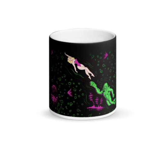 Lagoon Love Matte Black Mug