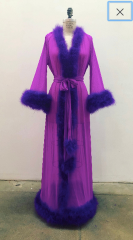 Frou Frou Dressing Gown - Royal Purple