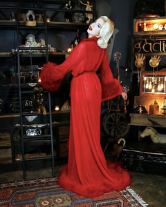 Lipstick Red - Frou Frou Dressing Gown