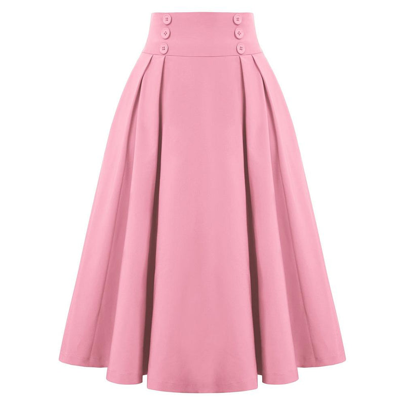 """Darling"" Pink Pleated Circle Skirt"