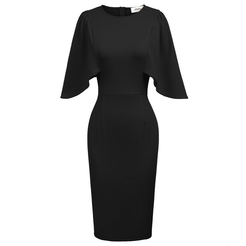 """Betwitched"" Blaque Capelet Dress"