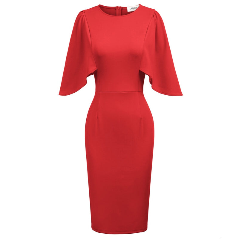 """Betwitched"" Red Capelet Dress"