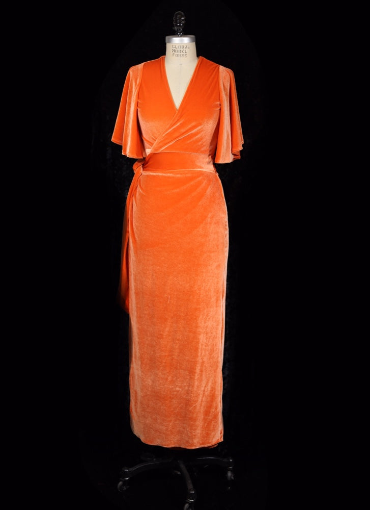Pumpkin Orange - Harlow Wrap Dress