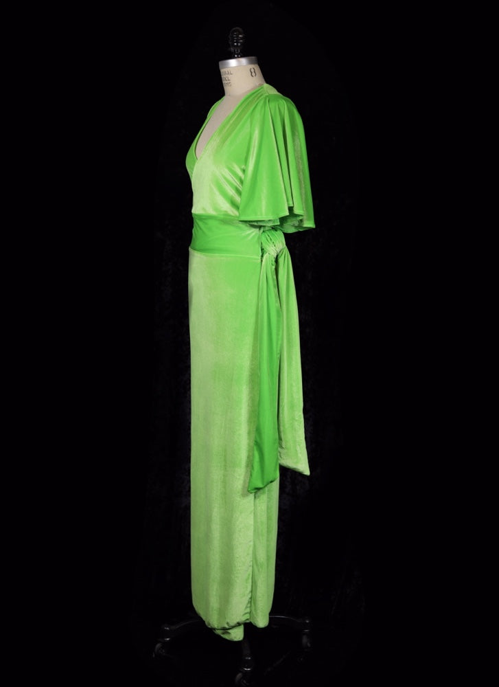 Glamour Ghoul Green - Harlow Wrap Dress