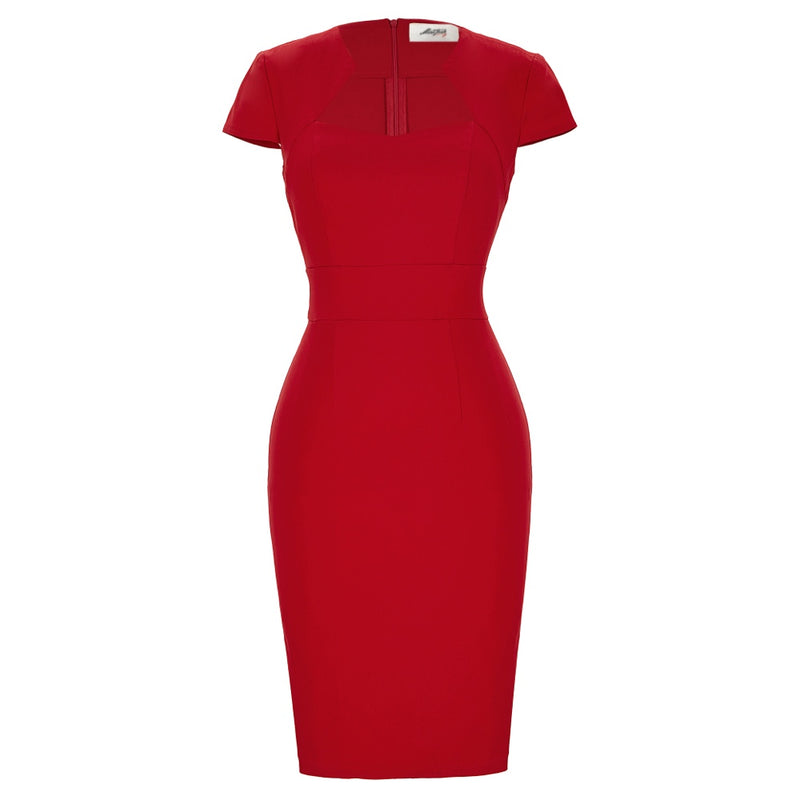 """Starlet"" Red Wiggle Dress"