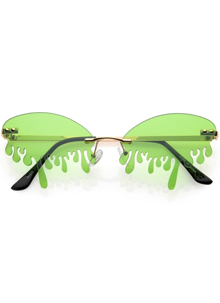 Goosebumps Green- Drip Sunglasses