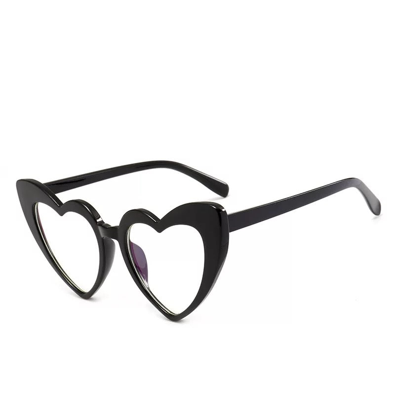 """Love Struck"" Blaque & Clear Heart Eyewear"