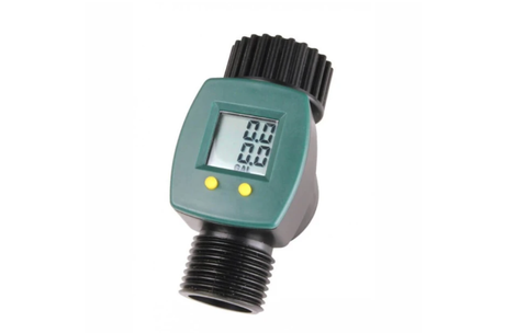 Product images for the Save-a-Drop Hose Water Meter by Garden Tower Project
