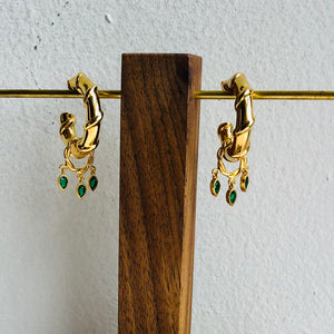 Bhindi hoop and ear cuff