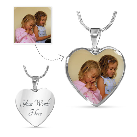 Personalized Photo Charm Necklace – Great for Holiday Keepsake Gifts