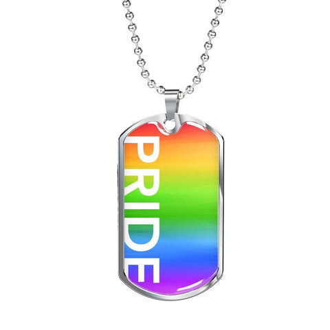 PRIDE Dog Tag Necklace