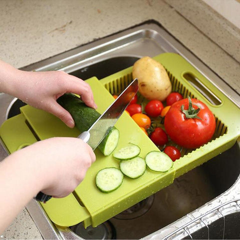 Cut & Drain Chopping Board