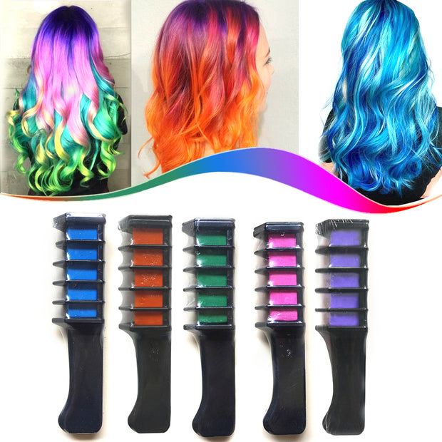 6Pcs/Set Multi-color Hair Chalk With Comb