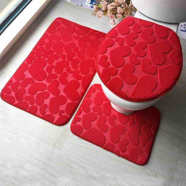 3Pcs Bathroom Mat Set
