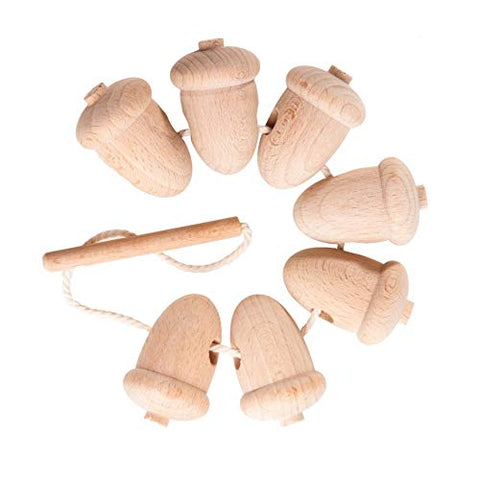 Wooden Lacing Toy Unfinished Acorns - the cozzee project