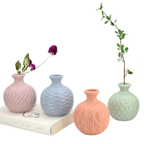 Ceramic Ikebana Vase | 4 Pack - the cozzee project