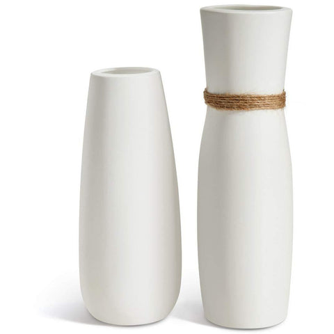 White Ceramic Vases | Set of 2 - the cozzee project
