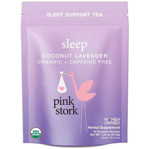 Pink Stork Sleep: Coconut-Lavender Sleep Support Tea - the cozzee project