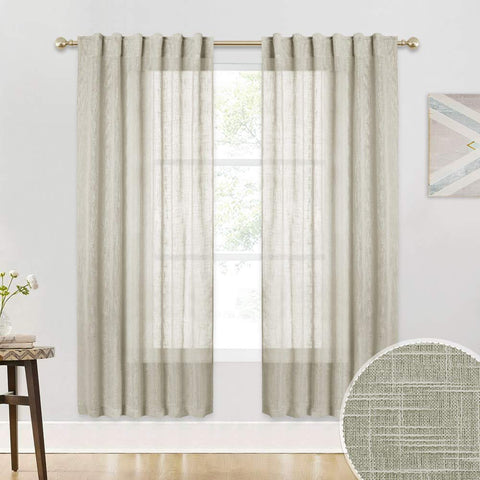 Linen Sheer Curtains - the cozzee project