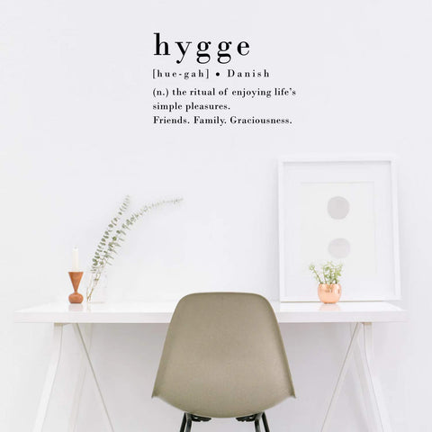 Hygge Vinyl Wall Art Decal - the cozzee project