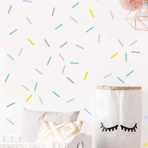 Pastel Sprinkles Confetti Wall Decals - the cozzee project