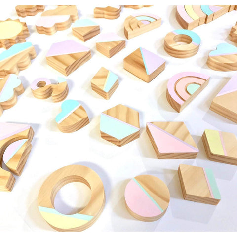Wooden Geo Learning Toys - the cozzee project