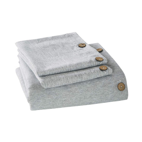 Chambray Duvet Cover With Coconut Buttons - the cozzee project