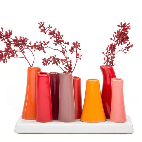 Tall Unique Ceramic Flower Vase - the cozzee project