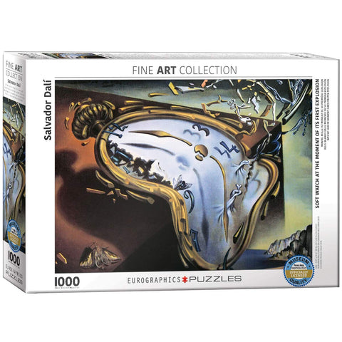 Melting Clock by Salvador Dali | 1000 Piece Puzzle - the cozzee project