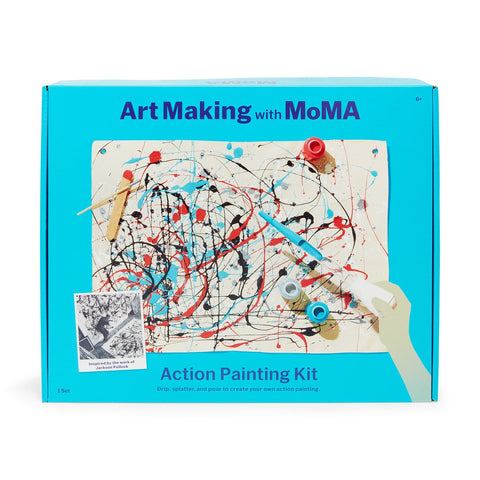 Art Making with MoMA: Action Painting Kit - the cozzee project