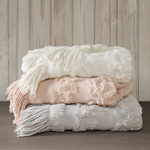 Tufted Chenille With Fringe Tassel Throw Blanket - the cozzee project