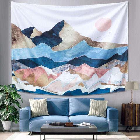 Mountain Sunset Tapestry - the cozzee project