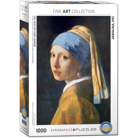 Girl with A Pearl Earring by Vermeer | 1000 Piece Puzzle - the cozzee project