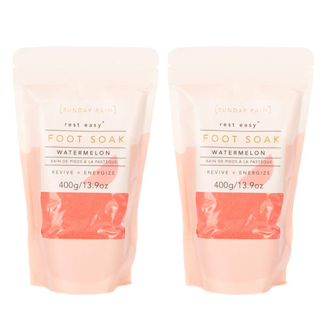 Rest Easy Revive Energize Watermelon Luxurious Foot Salt Soak | Pack of 2 - the cozzee project