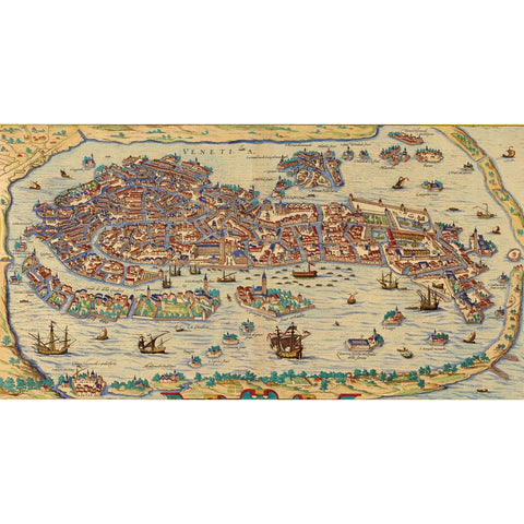 Old Venice Map Wooden Jigsaw Puzzle - the cozzee project