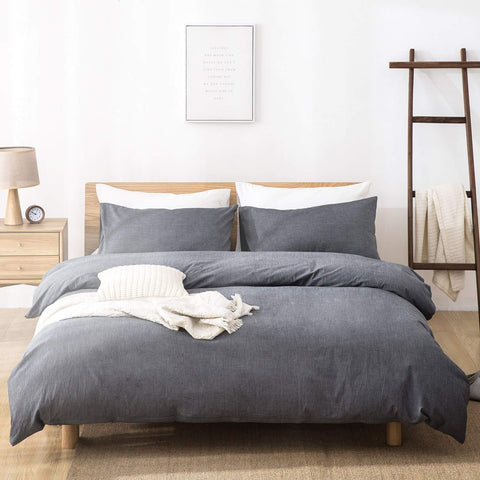 100% Washed Cotton Duvet Cover + Pillow Covers - the cozzee project