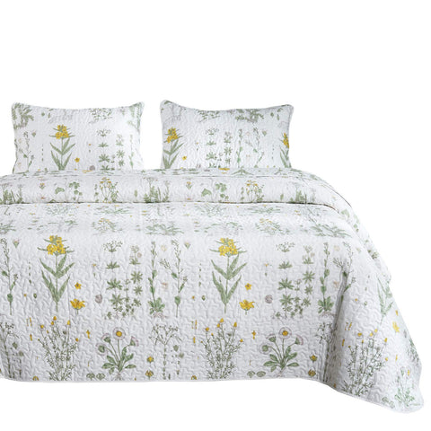 Botanical Quilt + Pillow Covers - the cozzee project