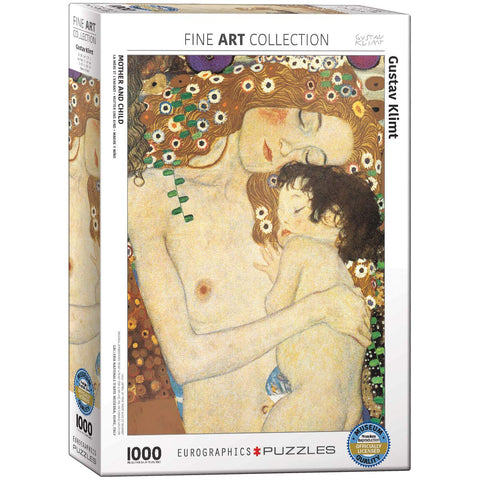 Mother and Child by Gustav Klimt | 1000 Piece Puzzle - the cozzee project