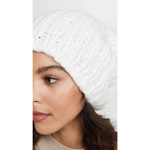 Eugenia Kim Women's Cashmere Shannon Hat | Winter White - the cozzee project