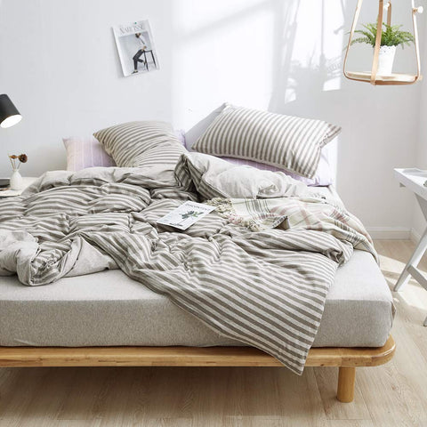 Jersey Knit Cotton Duvet Cover - the cozzee project