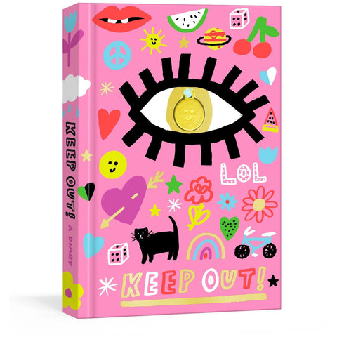 Keep Out!: A Nostalgic '90s Diary with Smiley Face Charm and Stickers - the cozzee project