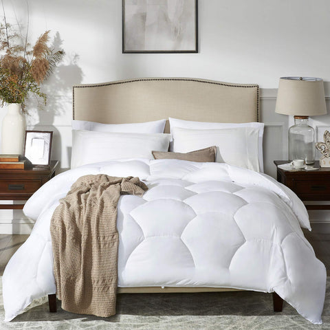 MoMA White Quilted Queen Comforter - the cozzee project