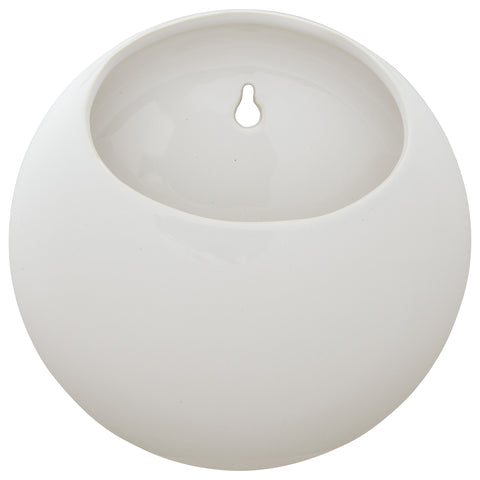 Rivet Round Wall Mount Planter | White - the cozzee project