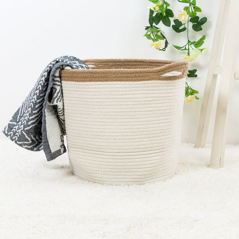 Large Cotton Rope Basket - the cozzee project