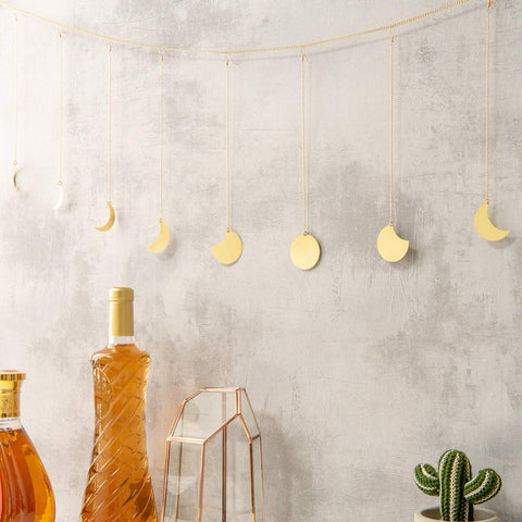 Gold Moon Phase Wall Hanging Ornaments - the cozzee project