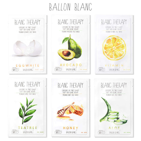 Blanc Therapy Face Mask | Set of 6 - the cozzee project