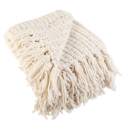 Luxury Chenille Knitted Throw Blanket with Fringe - the cozzee project