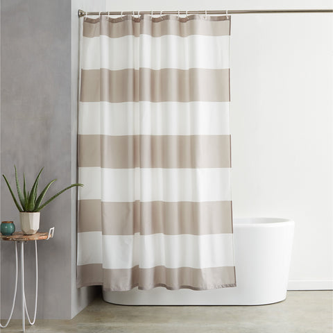 Natural Shower Curtain - the cozzee project