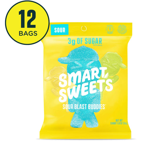 SmartSweets Sour Blast Buddies 1.8 Oz Bags | Box Of 12 - the cozzee project