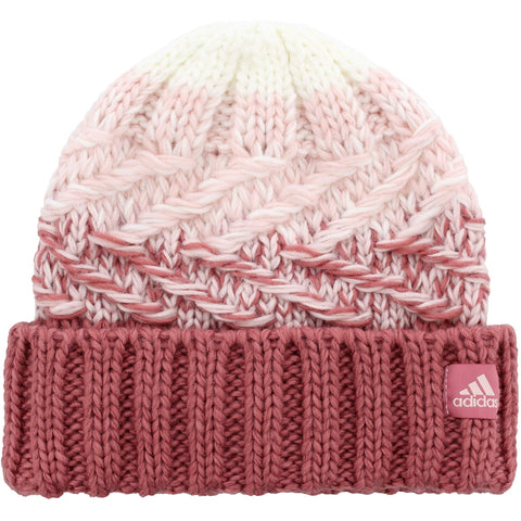 adidas Women's Canyon Fold Beanie | Trace Maroon/Icey Pink/White - the cozzee project